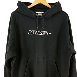 Vtg Nike Grey Swoosh Y2K Skater Sweatshirt Hoodie